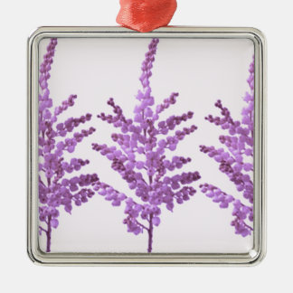 LILY LILLY Flower - Moonshine Violet Voilet Square Metal Christmas Ornament