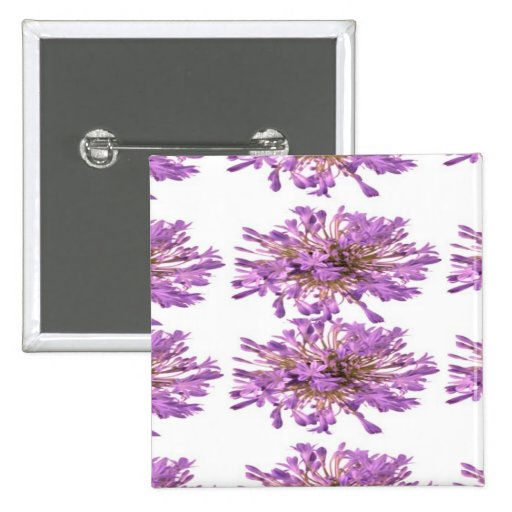 LILY LILLY Flower - Purple Violet Voilet 2 Inch Square Button