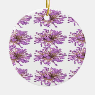 LILY LILLY Flower - Purple Violet Voilet Double-Sided Ceramic Round Christmas Ornament