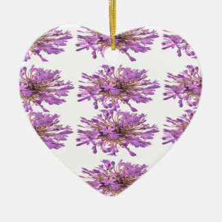 LILY LILLY Flower - Purple Violet Voilet Double-Sided Heart Ceramic Christmas Ornament