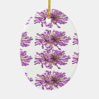 LILY LILLY Flower - Purple Violet Voilet Double-Sided Oval Ceramic Christmas Ornament