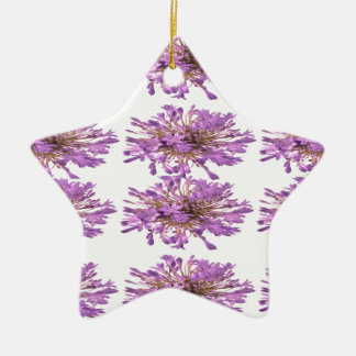 LILY LILLY Flower - Purple Violet Voilet Double-Sided Star Ceramic Christmas Ornament