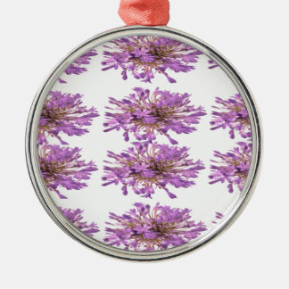 LILY LILLY Flower - Purple Violet Voilet Round Metal Christmas Ornament