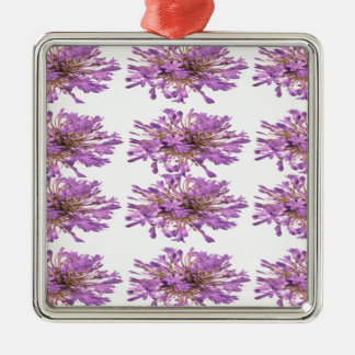 LILY LILLY Flower - Purple Violet Voilet Square Metal Christmas Ornament
