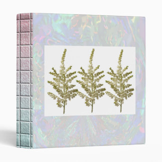 LILY LILY : Flower Floral Cream 3 Ring Binder
