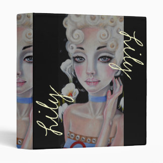 Lily, Lily, Lily 3 Ring Binder