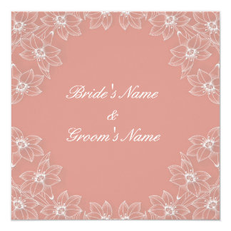 Lily love (peach) Wedding Invitation