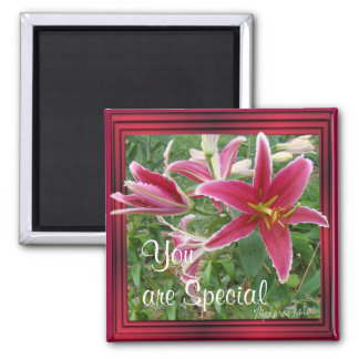 Lily Magnet-customize it 2 Inch Square Magnet