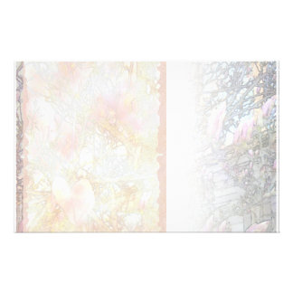 Lily Magnolias White Blend Stationery Paper