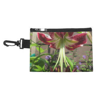 Lily Maroon Green Flower Garden Accessory Bags