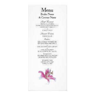 Lily Modern Simple Elegant WeddingIdeas Rack Card