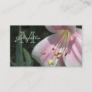 Lily: Monogram Business Cards