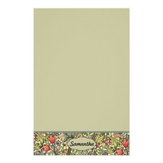 Lily Morris Vintage Floral Personalized Monogram Stationery