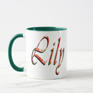Lily Name Logo Green Combo Coffee Mug