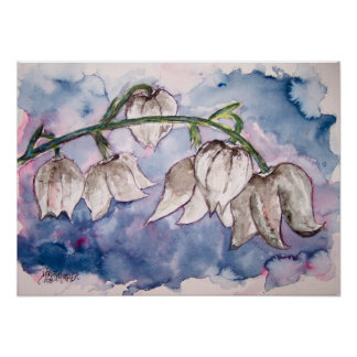lily_of_the_valley_2 flower watercolor print