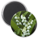 Lily Of  The Valley 2 Inch Round Magnet