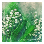 Lily of the Valley Acrylic Home Decor