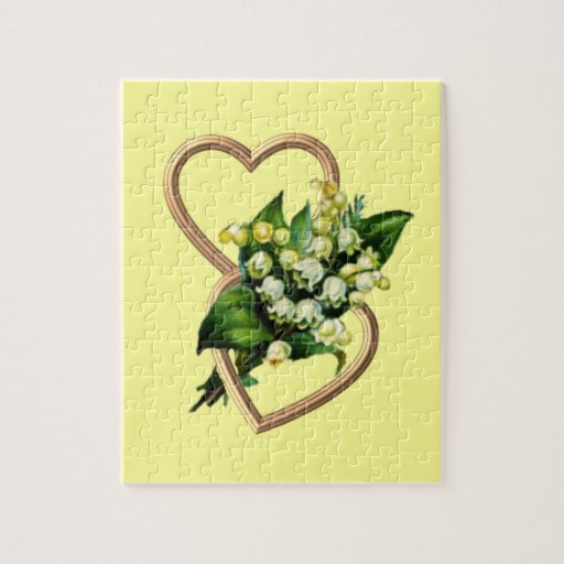 Lily of the Valley and Hearts Jigsaw Puzzles