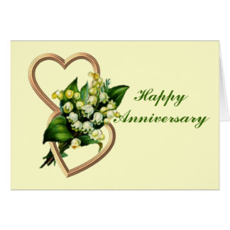 Lily of the Valley Anniversary Card