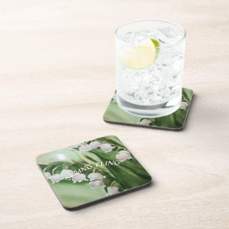 LILY OF THE VALLEY BEVERAGE COASTER