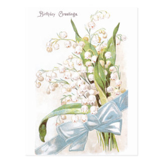 Lily of the Valley Birthday Postcard