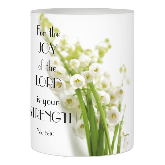 lily of the valley candle w bible verse zazzle com