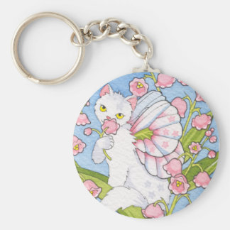 Lily of the valley catterfly keychain