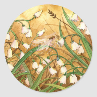 Lily-of-the-Valley Classic Round Sticker