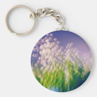 Lily of the Valley Dance in Blue Keychain