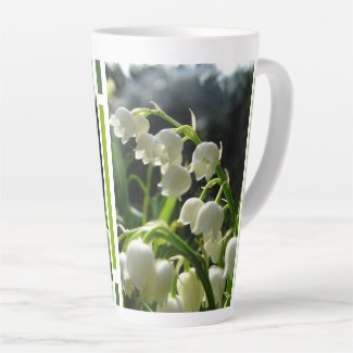 Lily-of-the-Valley Design Latte Mug