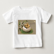 Lily Of The Valley Easter Chick Egg Baby T-Shirt