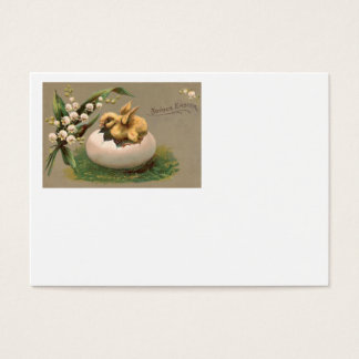 Lily Of The Valley Easter Chick Egg Business Card