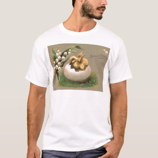 Lily Of The Valley Easter Chick Egg T-Shirt