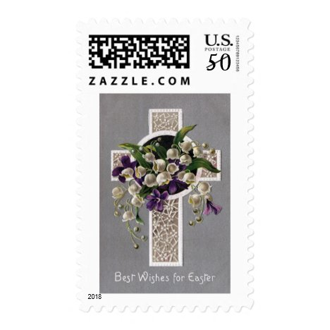 Lily of the Valley Easter Cross Postage
