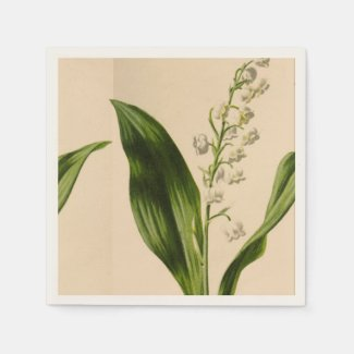 Lily of the Valley Ecru Napkins
