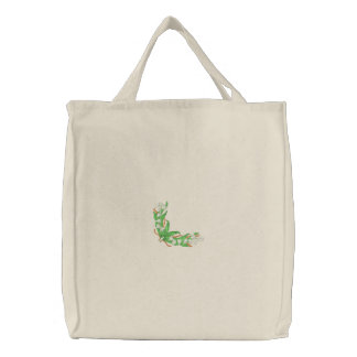 Lily Of The Valley Embroidered Tote Bag