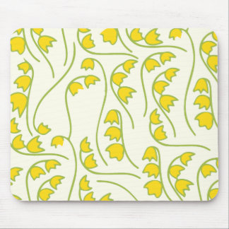 Lily of the Valley Floral Pattern Mousepads