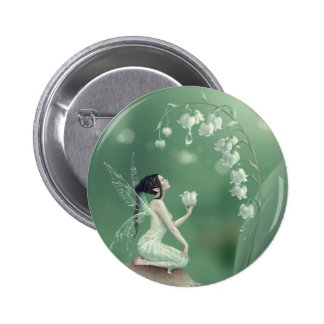 Lily of the Valley Flower Fairy Button Badge