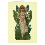Lily of the Valley Flower Fairy Stationery Note Card