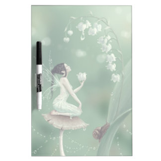 Lily of the Valley Flower Fairy Dry Erase Board
