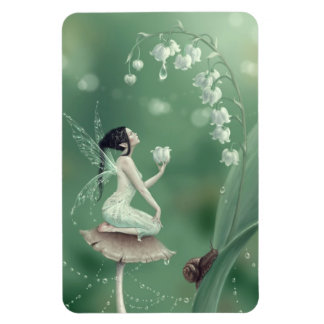 Lily of the Valley Flower Fairy Flexible Magnet
