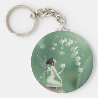 Lily of the Valley Flower Fairy Keychain