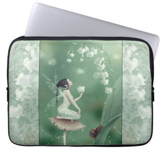 Lily of the Valley Flower Fairy Laptop Sleeve