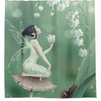 Lily Of The Valley Flower Fairy Shower Curtain