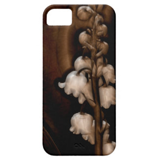 Lily of the Valley Flower in Dark Brown iPhone SE/5/5s Case