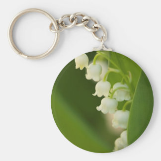 Lily of the Valley Flower Keychain