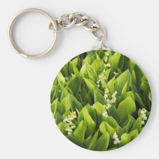 Lily of the Valley Flower Patch Keychain