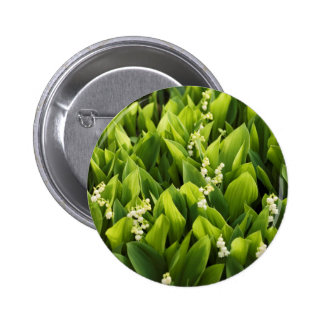 Lily of the Valley Flower Patch Pinback Button