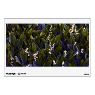 Lily of the Valley Flower Patch with Blue Tint Wall Sticker