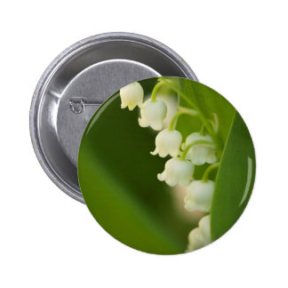 Lily of the Valley Flower Pinback Button